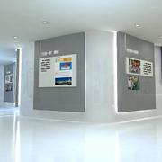 白色调展厅背景墙