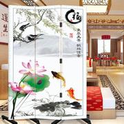 中式风格客厅屏风隔断装饰