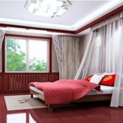 中式简约风格卧室飘窗装饰