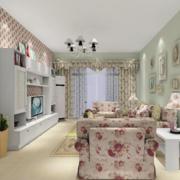 简约风格客厅沙发背景墙装饰