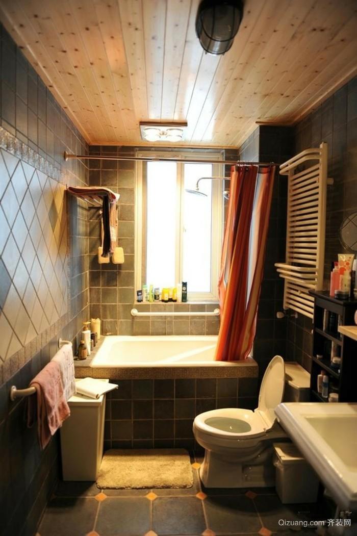 小户型公寓简约卫生间装修效果图