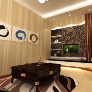 木色调客厅装修图片