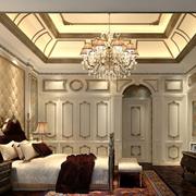 欧式风格奢华卧室石膏板吊顶装饰