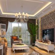 两室一厅欧式风格电视背景墙装饰