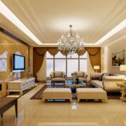 欧式风格客厅大理石背景墙装饰