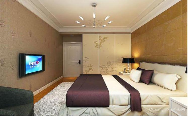 90㎡三居现代简约风格卧室隔断装修装修效果图