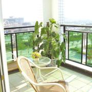 韩式清新风格护栏玻璃隔断装饰