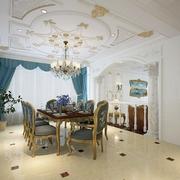 法式风格餐厅大型吊顶装饰