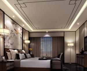 自然风格卧室吊顶装修