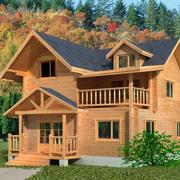 暖色调木屋装修图片