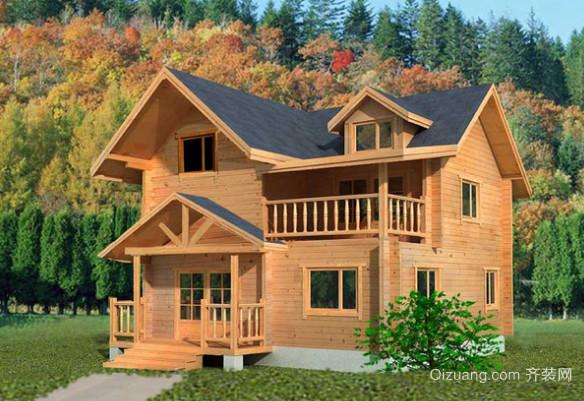 简约风格木屋别墅设计装修效果图