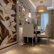 现代简约风格餐厅印花背景墙装饰
