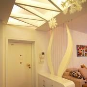 现代风格玄关石膏板背景墙装饰