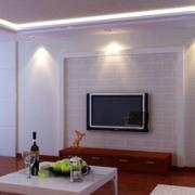 中式简约风格硅藻泥电视背景墙装饰