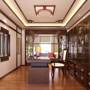 中式风格简约书房书架装饰