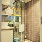 后现代风格浅色系卫生间瓷砖装饰