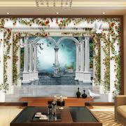 欧式风格简约3D电视背景墙装饰
