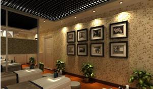 美容院照片墙效果图