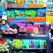 水果店货架效果图