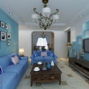 地中海客厅沙发背景墙装饰