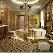 欧式风格大型浴室浴缸效果图
