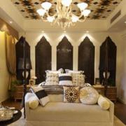 美式简约风格创意卧室吊顶装饰