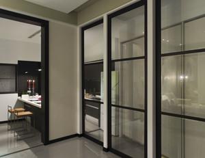 90平米大户型欧式现代厨房推拉门装修效果图