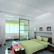 现代简约风格卧室隔断装饰