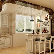淡色调厨房吧台设计