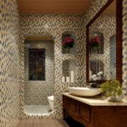 美式简约密集式卫生间瓷砖装饰