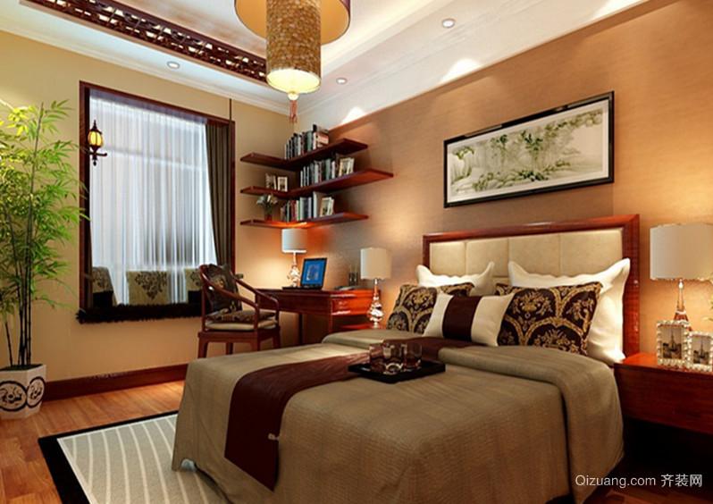 120平米欧式卧室背景墙设计装修效果图