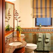 东南亚风格卫生间镜饰装饰