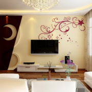 现代风格清新电视背景墙装饰