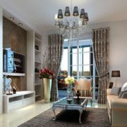 欧式简约风格公寓客厅飘窗装饰
