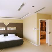现代简约风格浅黄色卧室墙饰装饰