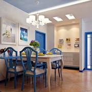 地中海简约风格餐厅背景墙装饰