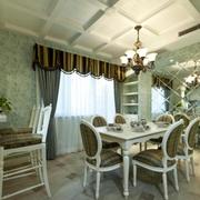 法式餐厅简约风格石膏板吊顶装饰