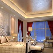 欧式风格卧室飘窗装饰