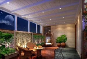 大中户型简约风格阳台花园设计装修效果图