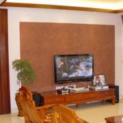 中式风格深色系电视背景墙装饰