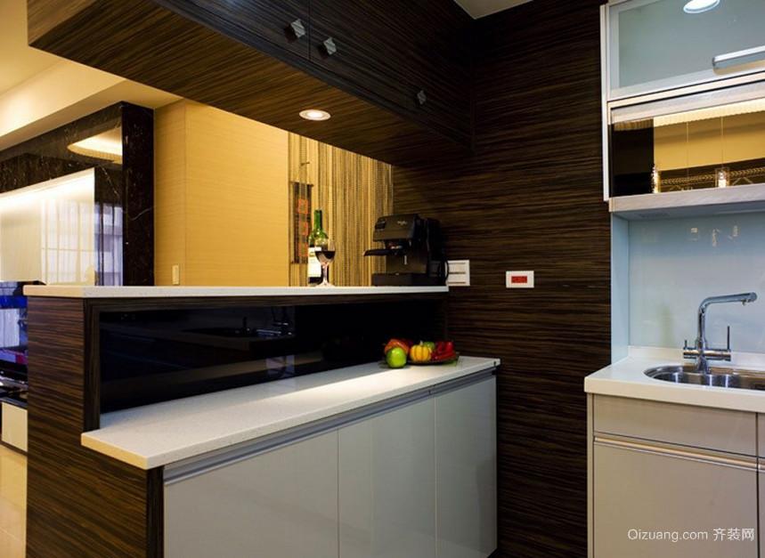 别墅型欧式厨房吧台装修效果图