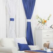 清新色调窗帘装修设计