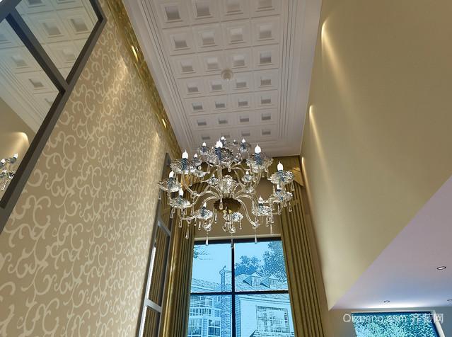 客厅吊顶灯饰照明装修效果图