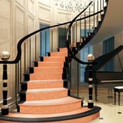 楼梯简约深色旋转楼梯装饰