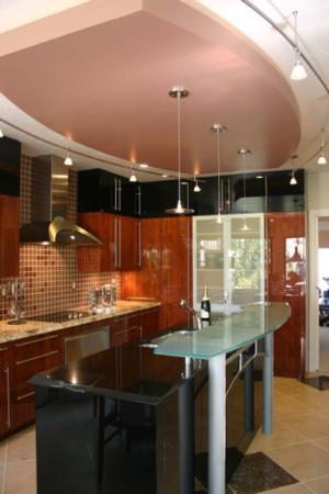 15平米地中海风格开放式厨房装修效果图