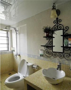 美式田园小卫生间装修效果图