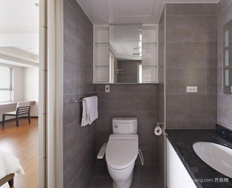 60平米小户型现代简约小卫生间背景墙装修效果图
