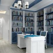 淡色调书房装修图片