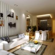 简约风格公寓沙发石膏板背景墙装饰