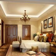 美式简约风格卧室背景墙装饰